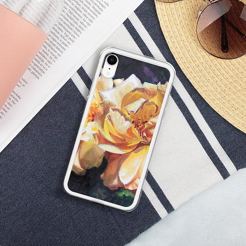 Yellow Roses: Liquid Glitter Phone Case