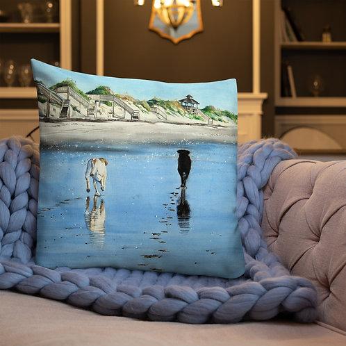 Footprints: Premium Pillow