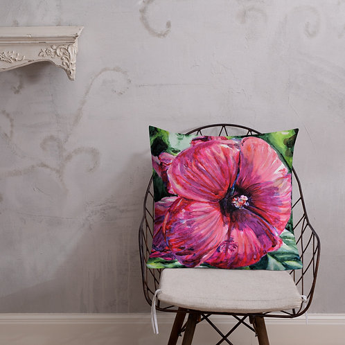 Hibiscus: Premium Pillow