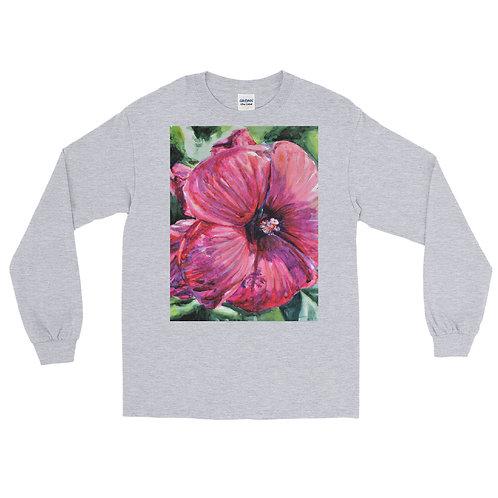 Hibiscus: Men's Long Sleeve Shirt