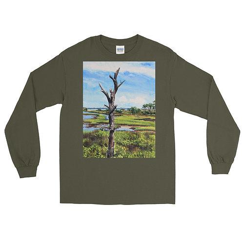 Assateague Overlook: Men's Long Sleeve Shirt