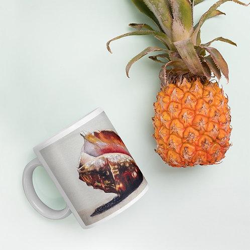 Conch Shell on the Beach: Mug