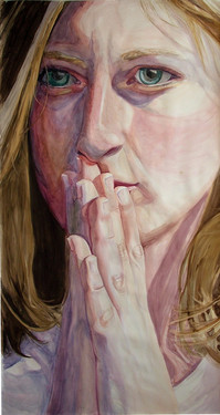 """48"""" x 96"""" Watercolor. 2010"""