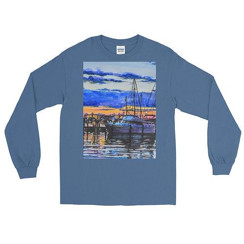 Sunset on the Marina: Men's Long Sleeve Shirt