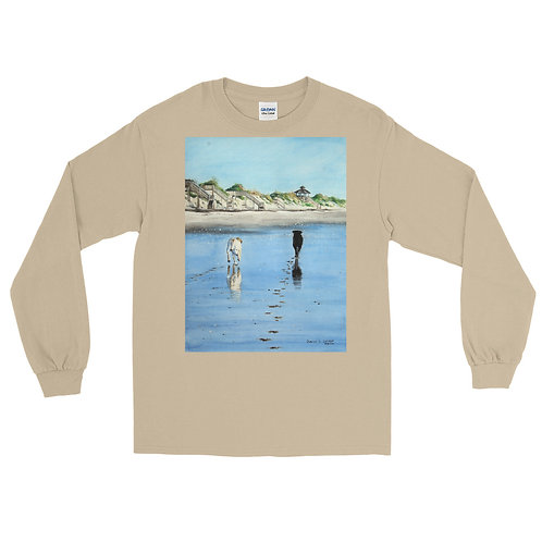 Footprints: Men's Long Sleeve Shirt