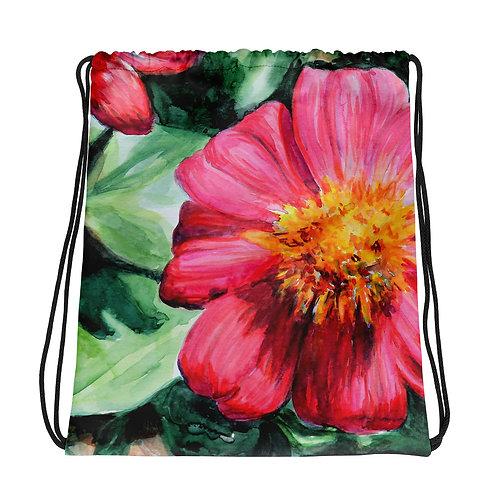 Flowers: Drawstring bag