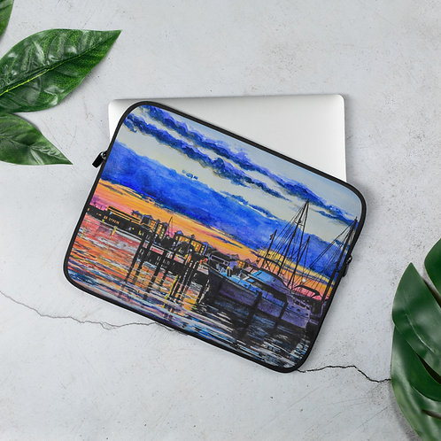 Sunset on the Marina: Laptop Sleeve