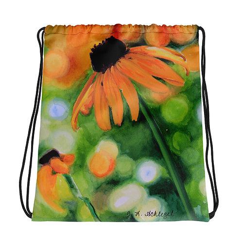 Black-Eyed Susan: Drawstring bag