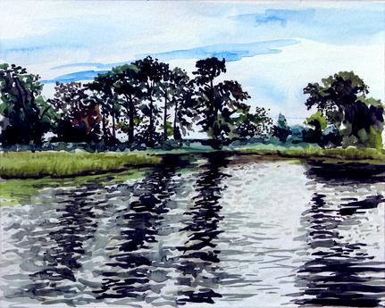 Plein Air Painting- Bordeleau Winery, Eden, MD