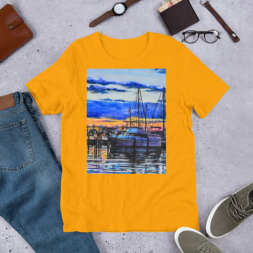 Sunset on the Marina: Short-Sleeve Unisex T-Shirt
