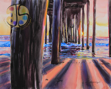Sunrise on te Pier