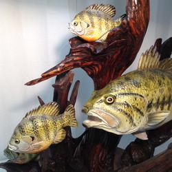 Close up of fish lamp