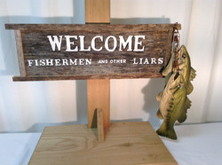 Fishermen Welcome sign