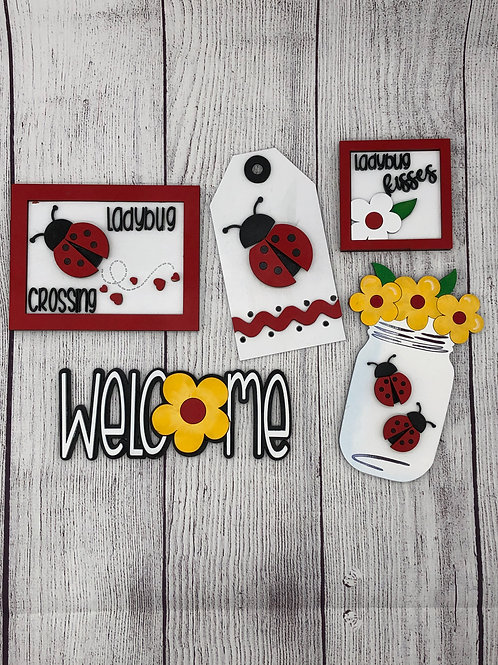 LADYBUG  Tiered Tray Kit-Unpainted DIY and Painted For You