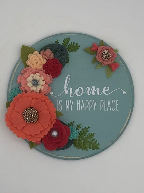 Home Sweet Home Round Sign