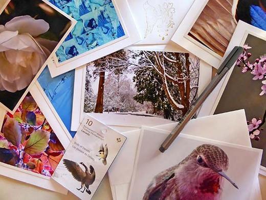 preparing individual cards