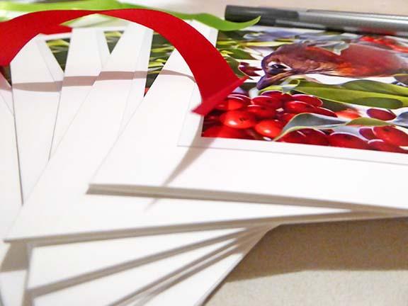 preparing cards
