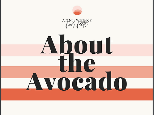 About the Avocado (Reference Card)