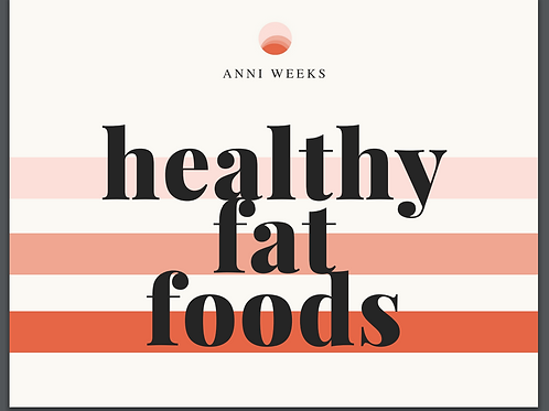 Healthy Fat Foods (Reference Card)