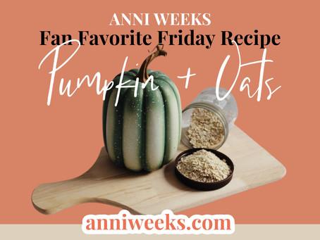 Recipe | Two Tasty Pumpkin & Oat Recipes