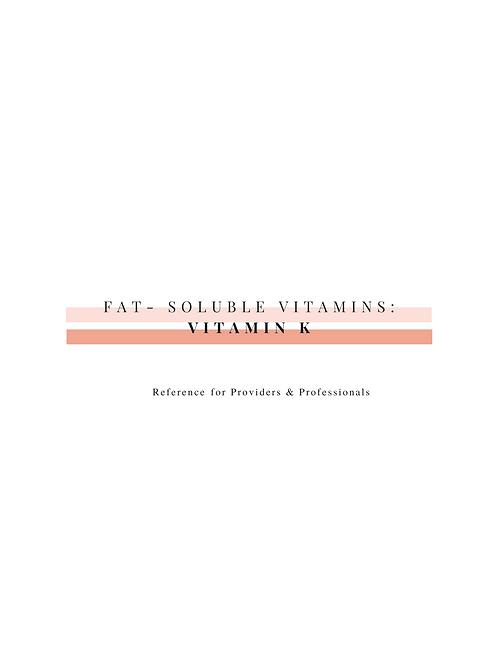 Vitamin K (Professional Resource)