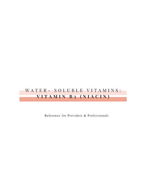 Vitamin B3 (Niacin)-Professional Resource
