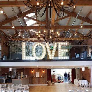 5ft Light Up LOVE Letter Hire Nottingham Derbyshire Leicestershire