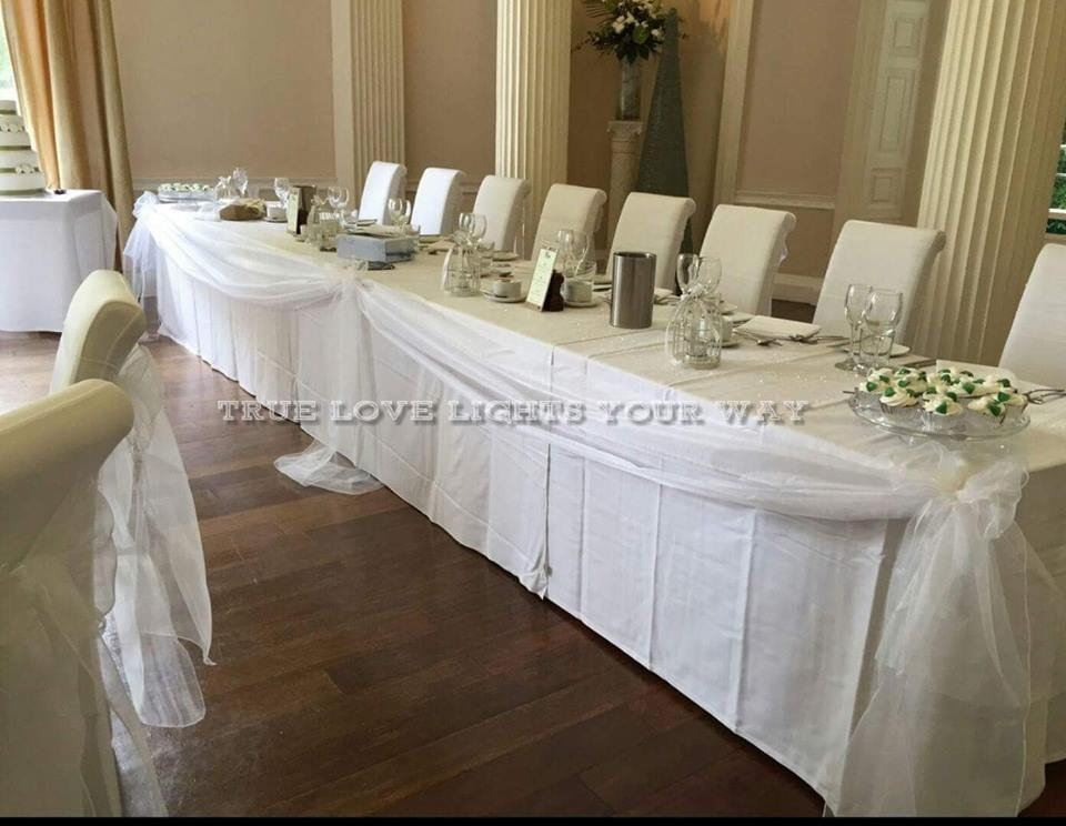 Chair Cover Hire Nottingham, Top Table Decorations and Swags