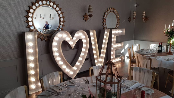 5ft Light Up Wedding Letters