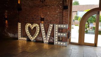 5ft Light Up LOVE Letters Nottinghamshire