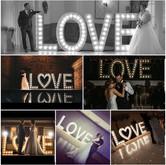 5ft Aluminium Light Up LOVE Letters