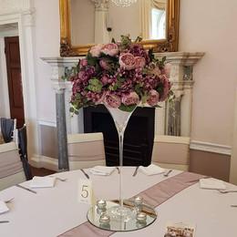 Martini Vase Wedding Table Centrepiece