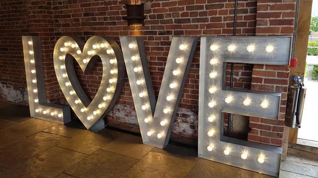 5ft Light Up LOVE Letters Nottingham