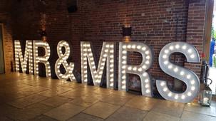 5ft Light Up MR & MRS Letters