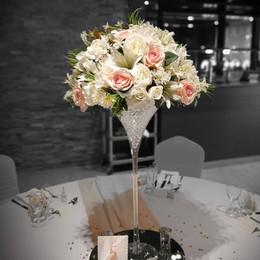 Martini Vase Wedding Centrepiece.