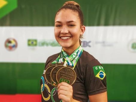 Brenda Garret fatura três medalhas no brasileiro de karatê