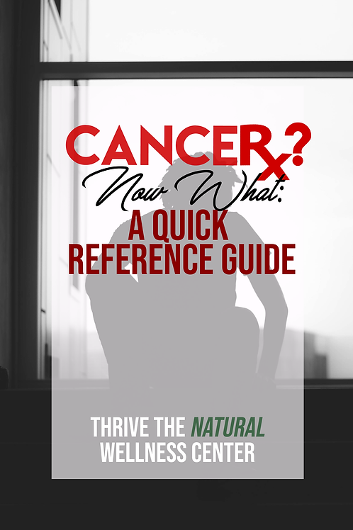 Thrive-Cancer? Now What? The Quick Reference Guide