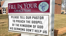 Are You Sitting up Under or Gathering for the wrong Message?