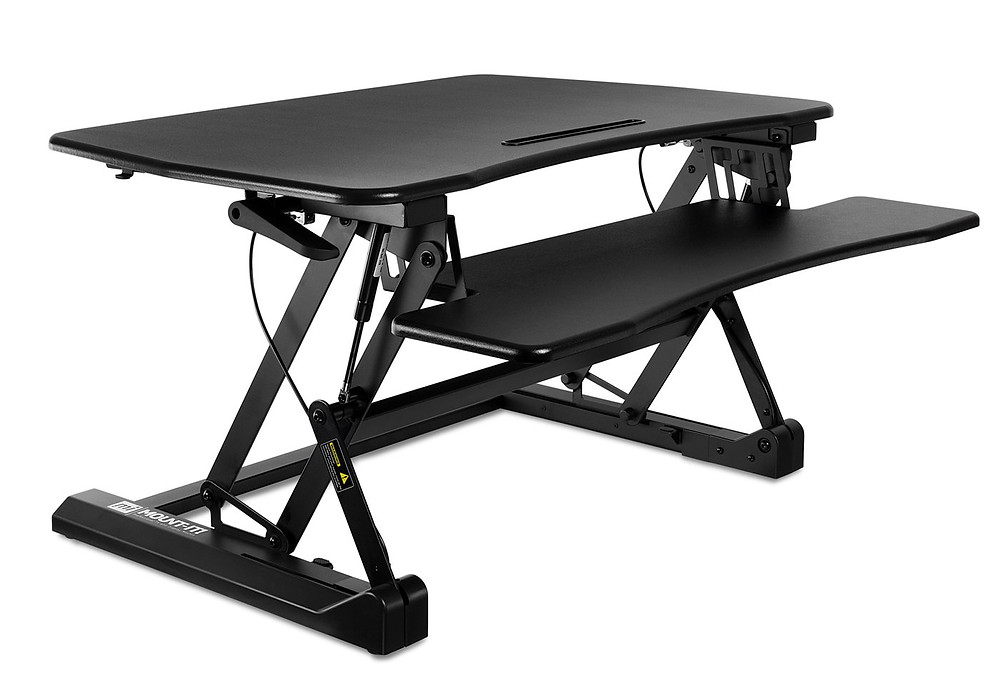 Rebuild Physiotherapy black Sit to Stand Desk Converter