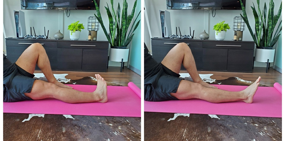 Physiotherapist ankle moving from inversion to eversion position