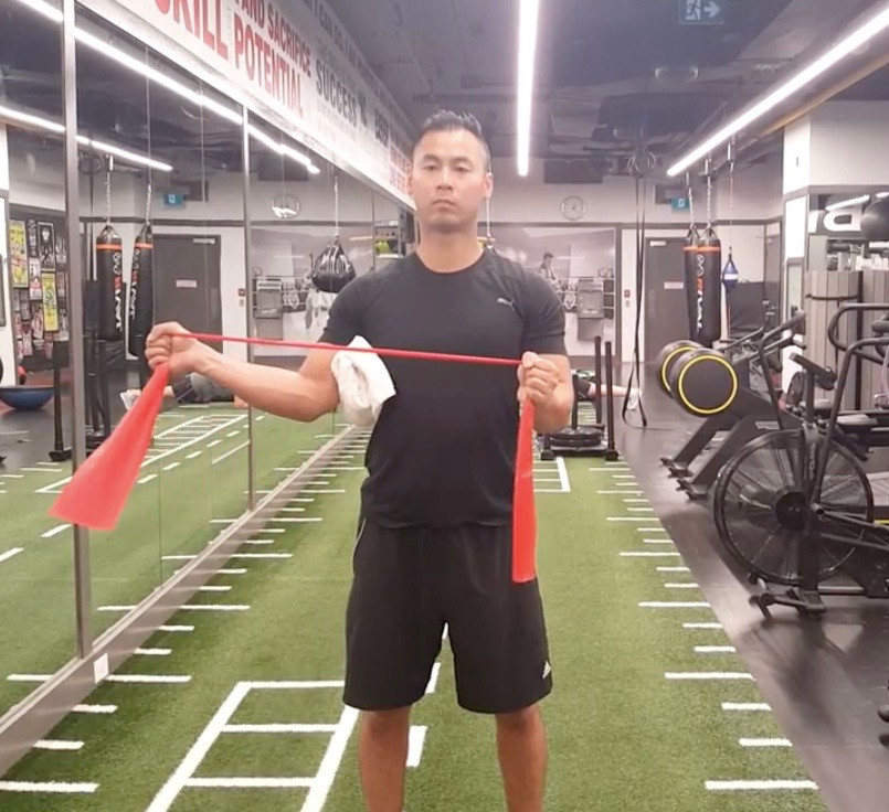 Rebuild Physiotherapy Shoulder External Rotation Exercise with theraband