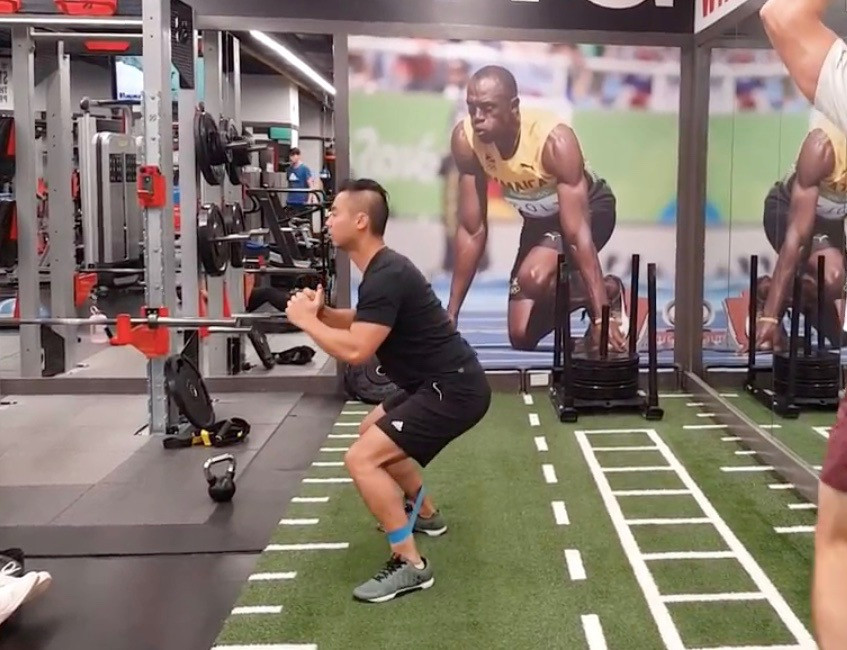 Rebuild Physiotherapy Hip and knee exercise: banded crab walk