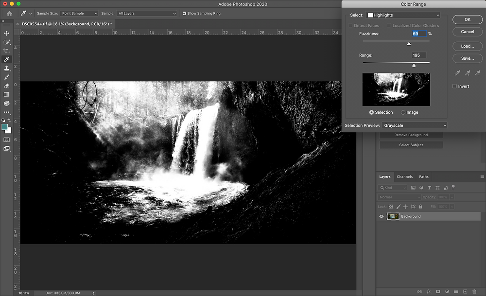 photoshop interface landscape photography