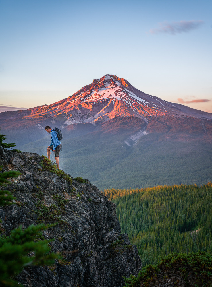 Mt. Hood hiker landscape photography