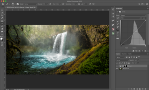 using a color range selection in Photoshop