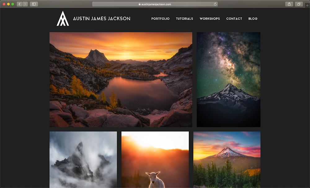 portfolio website landscape phootgrapher