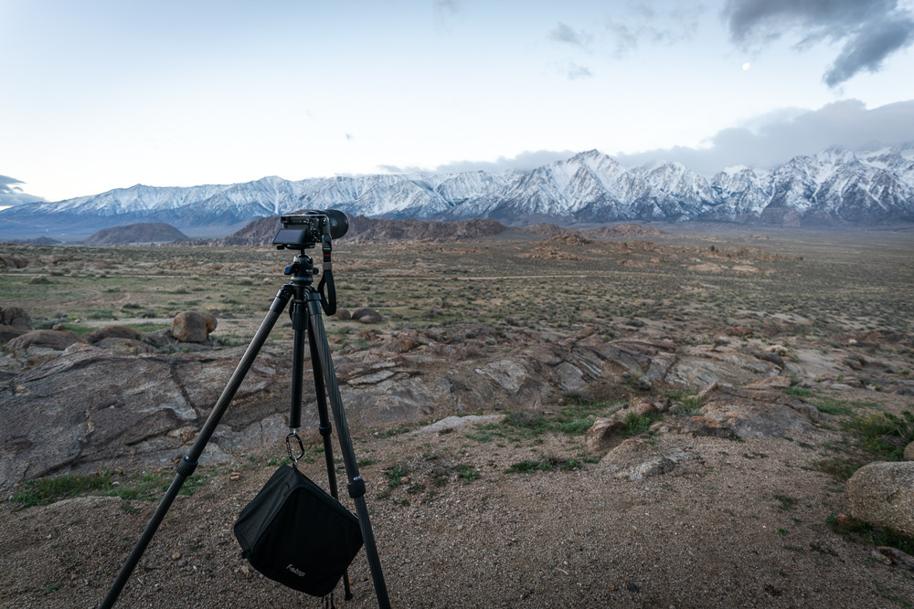 tripod at alabama hills
