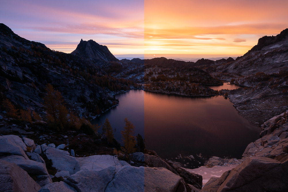 balancing the white balance in landscape photography