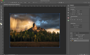 photoshop warping for landscape photographers