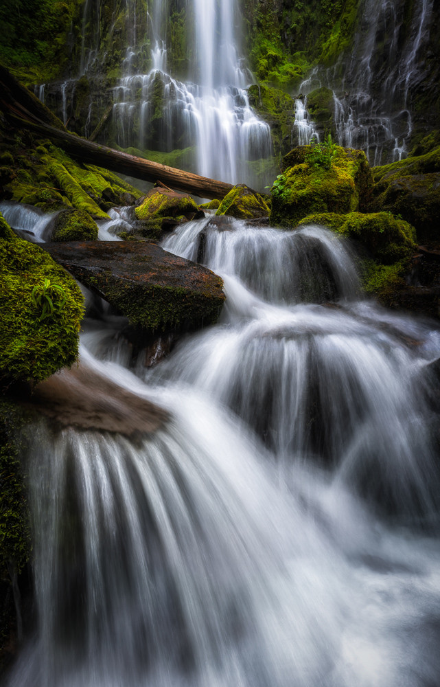 compelling compositions at proxy falls with a long exposure